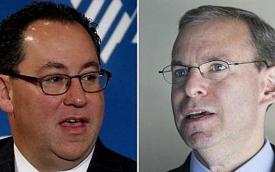 Matt Brooks, left, and Jeremy Ben-Ami (Getty Images via JTA)