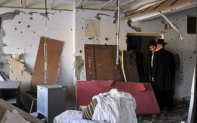 Mumbai's Chabad House, where Rabbi Gavriel Holtzberg, 29, and his 28-year-old wife Rivka, were killed by Islamist terrorists attack, seen here on December 25 2008. (Serge Attal/ Flash90)