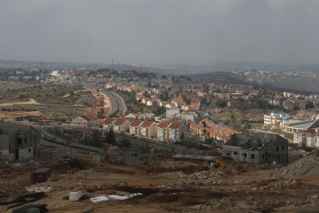 General view of the settlement of Ariel, January 17, 2014. (Flash 90)