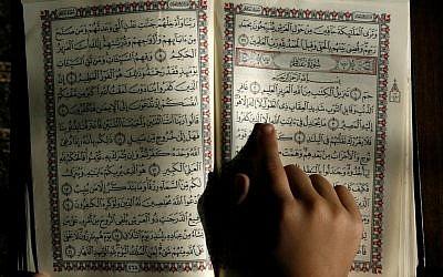 Illustrative image of Arabic text. (Abed Rahim Khatib/Flash90)