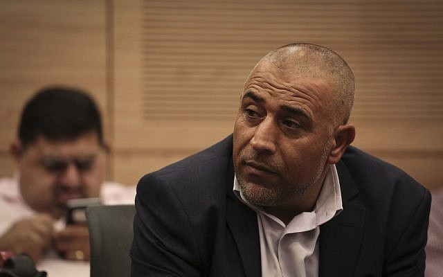 MK Taleb Abu Arar during a meeting of the Knesset Interior Affairs Committee, November 17, 2014. (Hadas Parush/Flash90)