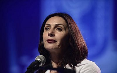 Culture and Sports Minister Miri Regev, February 17, 2016 (Tomer Neuberg/Flash90)