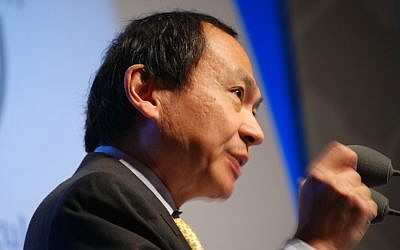 Political theorist Francis Fukuyama at the New World, New Capitalism symposium in Paris, January 8, 2009. (Andrew Newton/Wikimedia/CC BY-SA 2.0)