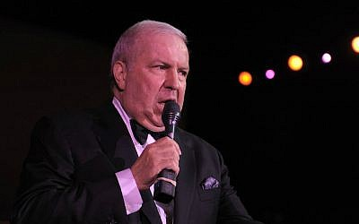Frank Sinatra Jr. performing at a private residence in Beverly Hills, California, Oct. 9, 2010. (Charley Gallay/Getty Images for Night Vision/via JTA)