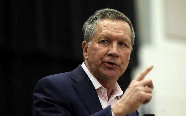 Republican presidential candidate Ohio Gov. John Kasich speaks at a town hall event at Utah Valley University, Friday, March 18, 2016, in Orem, Utah. (AP Photo/Kim Raff)