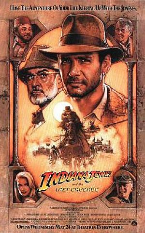 """Theatrical poster for the 1989 film """"Indiana Jones and the Last Crusade."""" (Wikipedia Fair use)"""