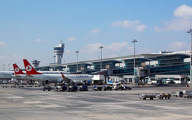 The main terminal building at Istanbul's Atatürk Airport, November 2013. (CC BY-SA/Wikimedia commons/Milan Suvajac)