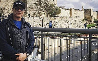 Jean-Claude Van Damme in Jerusalem, March 29, 2016. (Facebook via JTA)