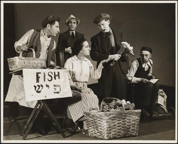 Still from the 1939 Artef production of 'Clinton Street' (Courtesy Museum of the City of New York)