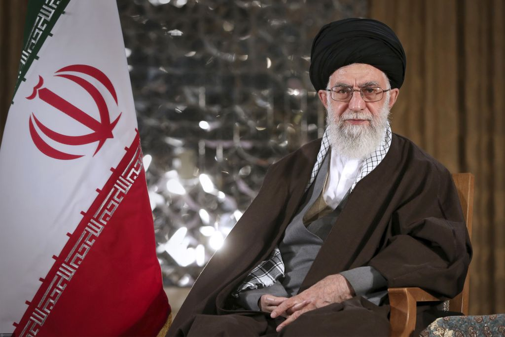 Supreme Leader Ayatollah Ali Khamenei poses for a portrait prior to delivering his message for the Iranian New Year, Sunday, March 20, 2016. (Office of the Iranian Supreme Leader/AP)