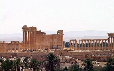 The ancient city of Palmyra after Syrian troops took back the site from Islamic State fighters, March 27, 2016. (SANA via AP)
