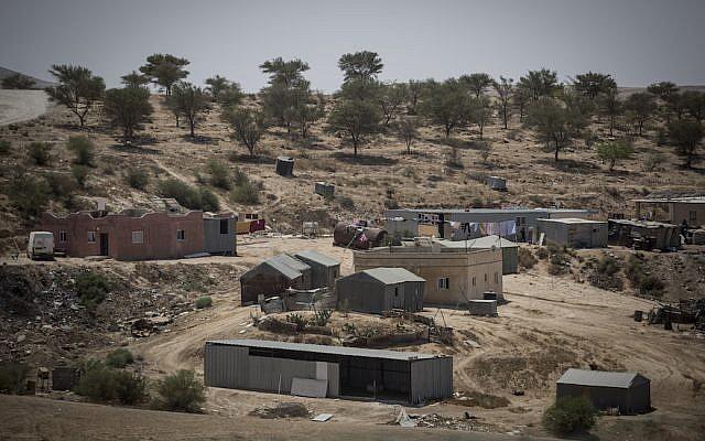 The Bedouin village of Umm al Hiran in Israel's Negev Desert, Aug. 27, 2015. (Hadas Parush/Flash 90)