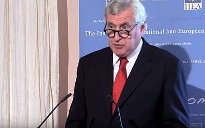 File: Pierre Vimont, France's special envoy for peace initiative  (Youtube screenshot)
