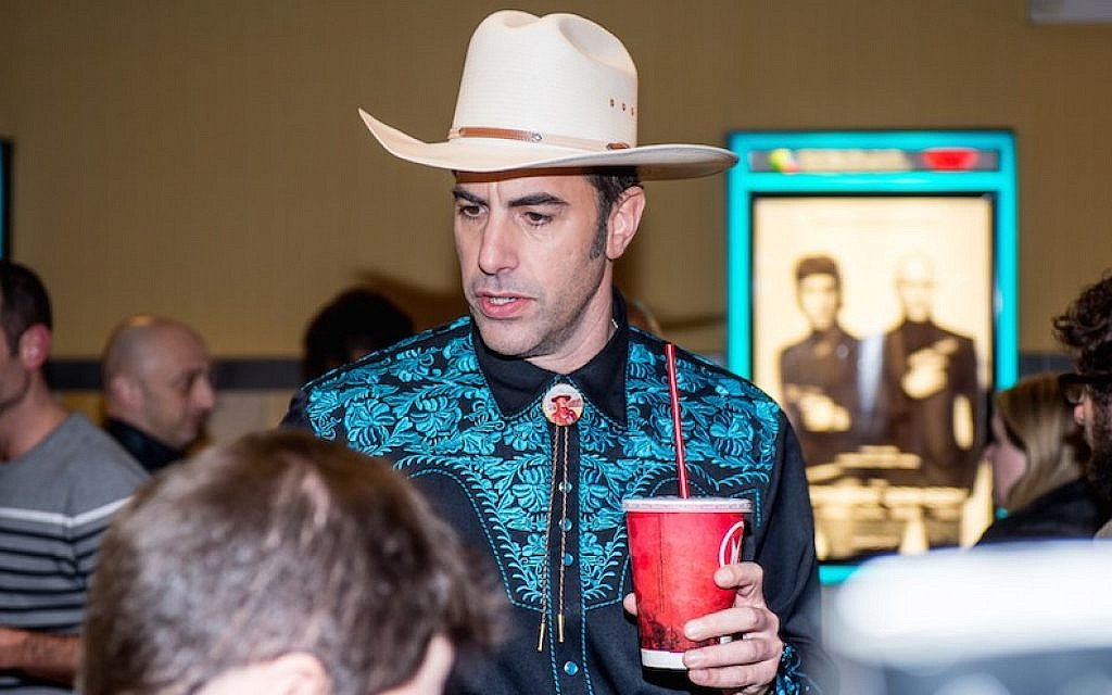 Actor and comedian Sacha Baron Cohen attending 'The Brothers Grimsby' fan screening at Regal Union Square in New York, March 8, 2016. (Roy Rochlin/FilmMagic)