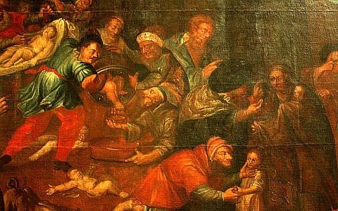 Illustrative: Detail from a painting depicting blood libel in St. Paul's Church in Sandomierz, Poland. (public domain, Wikimedia Commons)Detail from a painting depicting blood libel in St. Paul's Church in Sandomierz, Poland. (public domain, Wikimedia Commons)