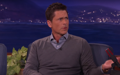Rob Lowe talks to Conan O'Brien in February 2016 (screen capture: YouTube)