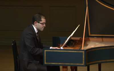 Iranian-born harpsichordist Mahan Esfahani (screen capture: YouTube)
