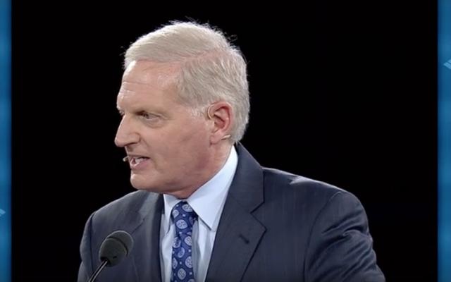 AIPAC CEO Howard Kohr addresses the pro-Israel lobby in Washington, DC, on March 20, 2016. (YouTube screen shot)
