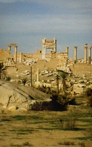 A general view of the Temple of Bel partially damaged from Islamic State militants in Syria, February 20, 2016. (The Day After Heritage Initiative via AP)