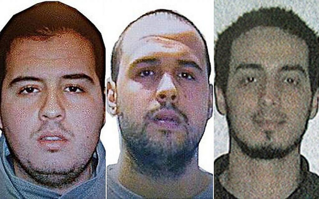 File: (Left to right) Khalid El Bakraoui, Ibrahim El Bakraoui and Najim Laachraoui, who carried out the deadly suicide bombings in Brussels on March 22, 2016, in a photo distributed by Belgian authorities. (Belgian Federal Police)