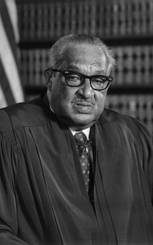 US Supreme Court Justice Thurgood Marshall, January 1, 1976. (Wikipedia Public Domain)