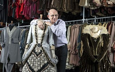 Tim Angel in the London-based Angels Costumiers workshop. (courtesy)