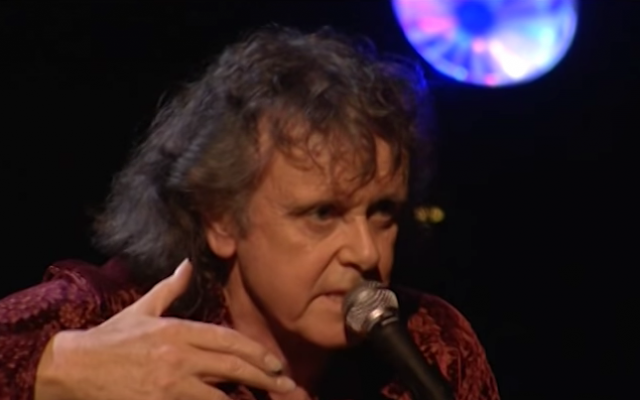 A photo of Donovan from 2007, taken from a YouTube video of Donovan performing live at the Kodak Theatre in Hollywood, California (Courtesy YouTube)
