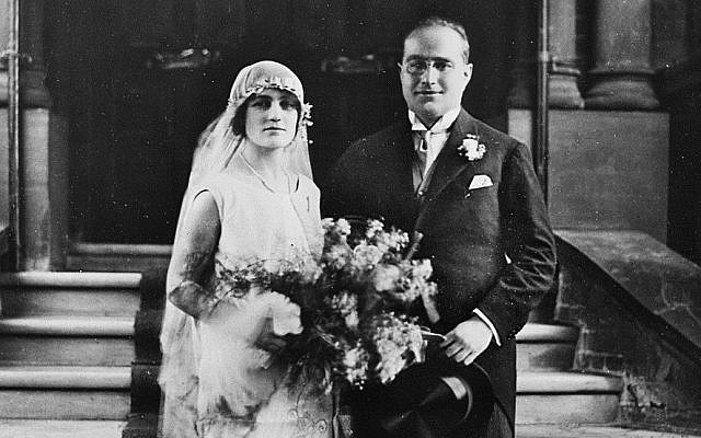 Bernard and Winifred Schlesinger married in 1925 (Courtesy)