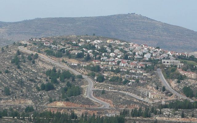 The West Bank settlement of Eli, north of Ramallah. (Akivapath/Wikipedia/CC BY 3.0)