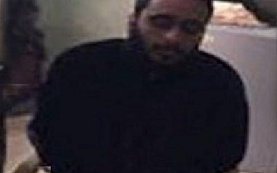A picture purporting to show Palestinian-American Islamic State member Muhammad Jamal Amin. (Screen capture: Rudaw.net)