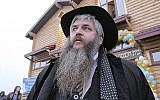 Rabbi Moshe Azman, founder of the Anatevka community near Kiev, February 29, 2016. (R. Litevsky/Courtesy of the Office of Rabbi Moshe Azman)
