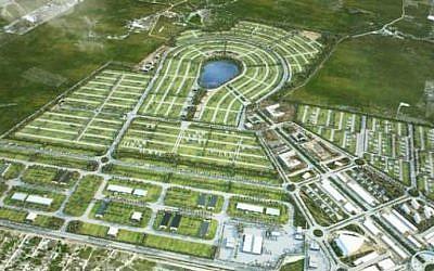 A rendering of planned smart city Croatá Laguna Ecopark in Sao Goncalo do Amarante, Brazil. (Courtesy of Croatá Laguna Ecopark via JTA)