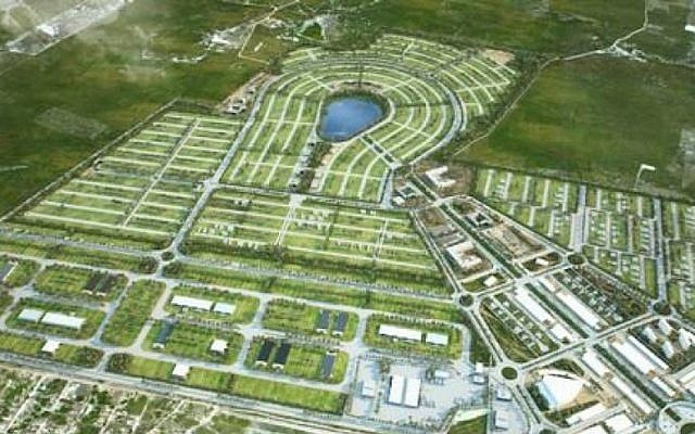 A rendering of planned smart city Croatá Laguna Ecopark in Sao Goncalo do Amarante, Brazil. (Courtesy of Croatá Laguna Ecopark via JTA)