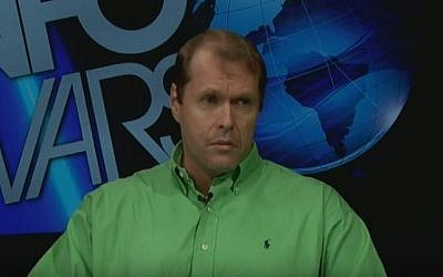 Robert Morrow, the newly elected leader of the Republican Party in Travis County, Texas, in a TV interview on August 20, 2011. (screen shot: YouTube)