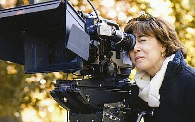 Nora Ephron, the subject of a new documentary made by her son, behind the camera in an undated photo. (Courtesy of HBO)