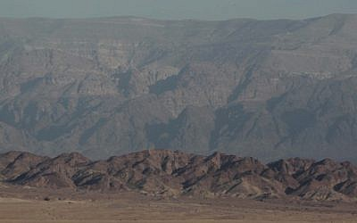 Jordan's Mountains of Edom as seen from Israel, file photo (Nati Shohat/Flash90)