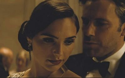 Gal Gadot as Diana Prince (aka Wonder Woman) and Ben Affleck as Bruce Wayne (aka Batman) in a still image from the 2016 movie 'Batman v Superman: Dawn of Justice' (screen capture: YouTube)