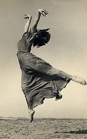 Gertrude Kraus, one of Israel's first modern dancers and a member of a Tel Aviv crew of elite, creative women (Alfons Himmelreich, Israeli, born Germany, Gelatin silver print, Collection of the Presler Private Museum, Tel Aviv)