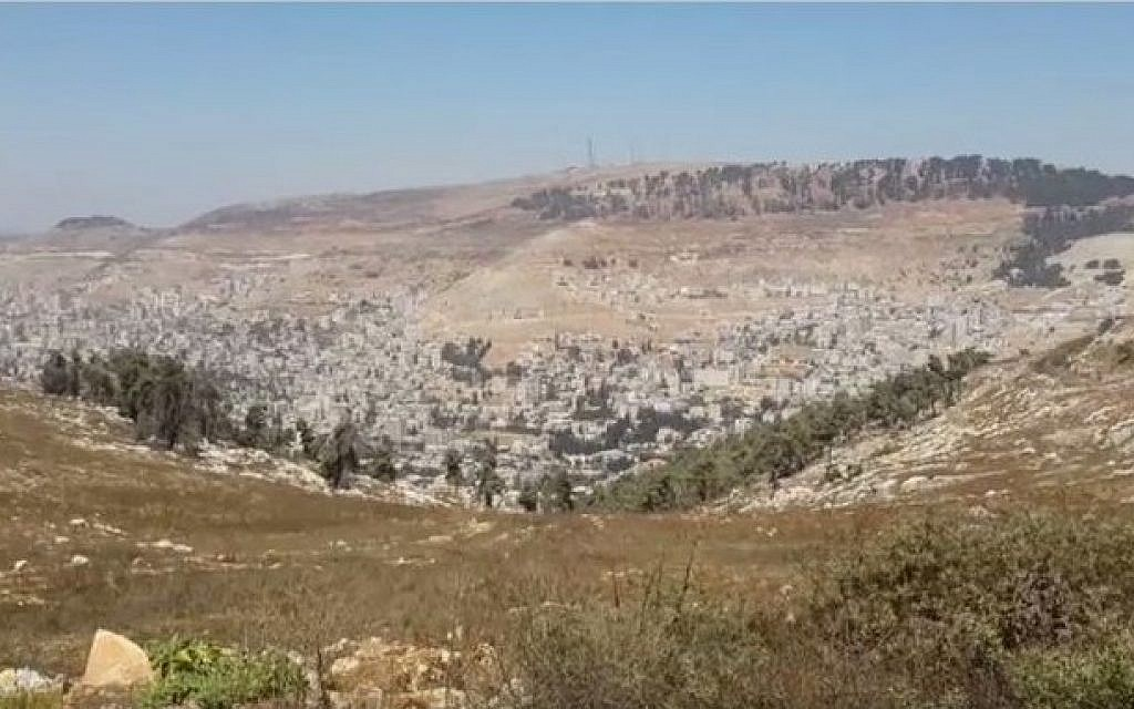 File: The settlement of Har Bracha in the northern West Bank in September 2014.