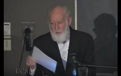 Jewish literary scholar Geoffrey Hartman (YouTube screenshot)
