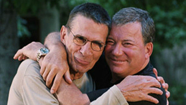 Leonard Nimoy (left) with William Shatner in an undated photo. (Paul Camuso)
