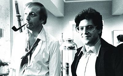 Mark Forstater and the late Graham Chapman (courtesy)