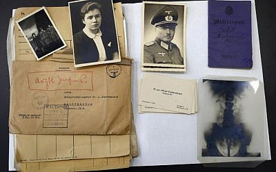 The files of a Nazi German officer, stored for years in the archives rooms of the medieval castle of Vincennes, east of Paris, on display, Wednesday, March 16, 2016. (AP Photo/Francois Mori)