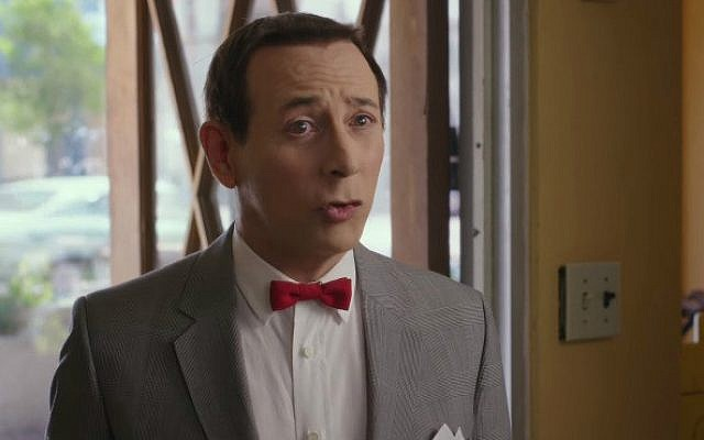 """Paul Reubens as Pee-wee Herman in the new film """"Pee-wee's Big Holiday,"""" now available to stream on Netflix (YouTube screen cap)"""