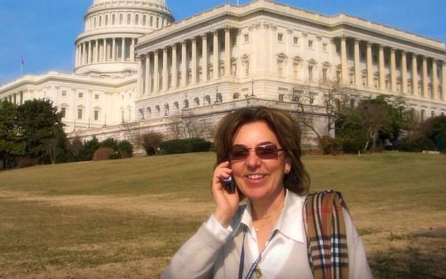 American Israel Public Affairs Committee President Lillian Pinkus in Washington, DC. (YouTube screen capture)