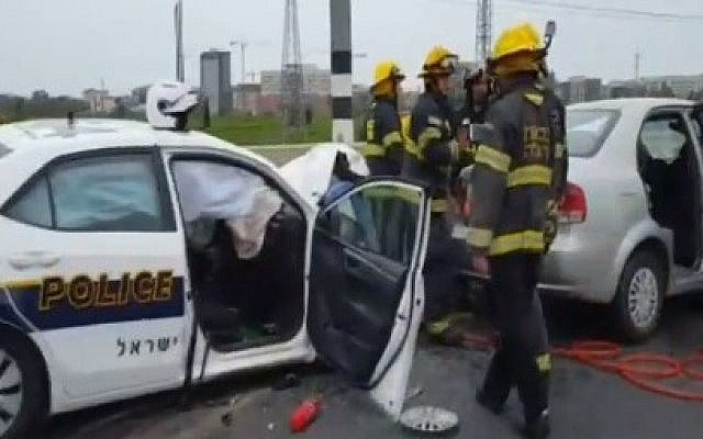 4 injured as police chase against traffic ends in crash