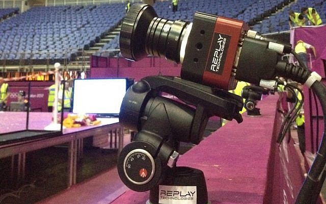 A Replay camera ready for action at the stadium (Courtesy)