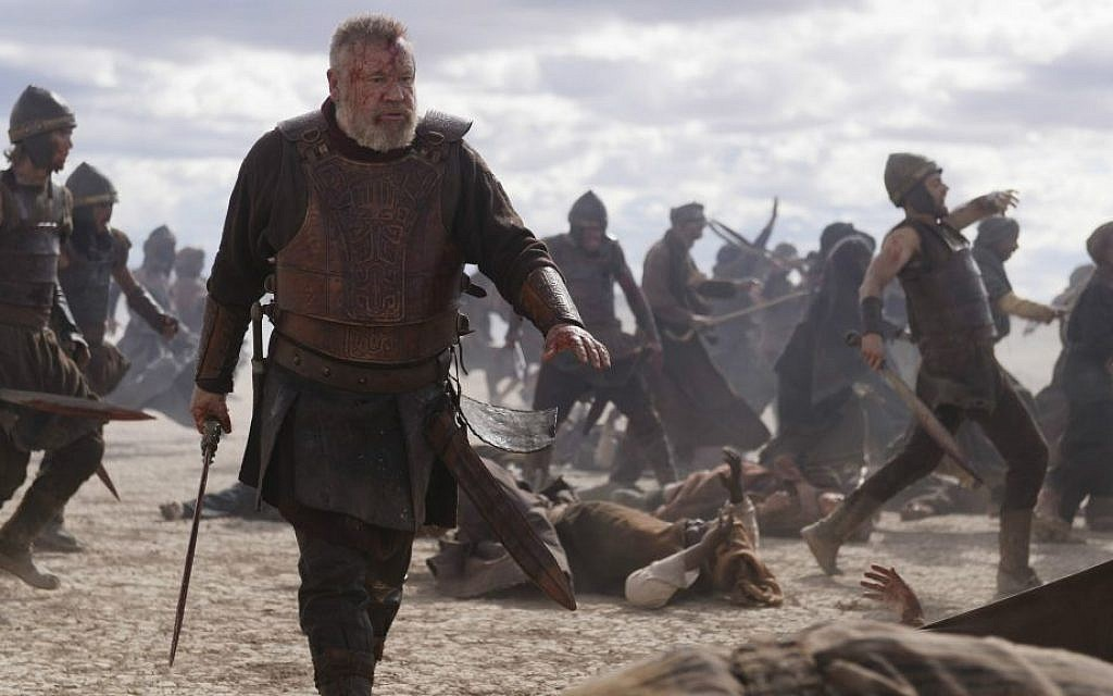 British actor Ray Winstone plays a battle-weary King Saul in 'Of Kings and Prophets' (ABC/Trevor Adeline)