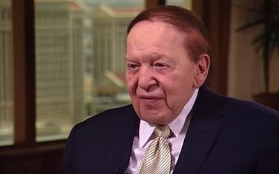 US billionaire businessman Sheldon Adelson (YouTube screenshot)