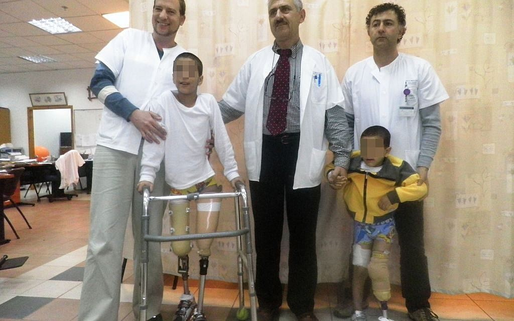 Syrian children being treated at Ziv Hospital in Safed in 2016. (Courtesy: Ziv Hospital)